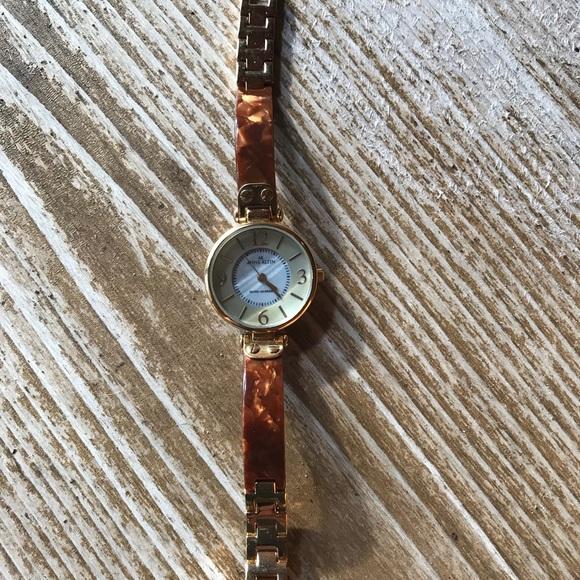 3cfef746a500 Anne Klein Accessories - Anne Klein Women s Gold-Tone Tortoise Watch